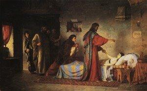"""Raising of Jairus' Daughter"" by Vasily Dmitrievich Polenov, 1871"